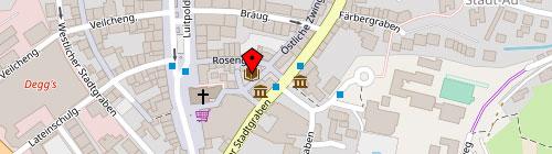 Stadtbibliothek Deggendorf Kartenausschnitt